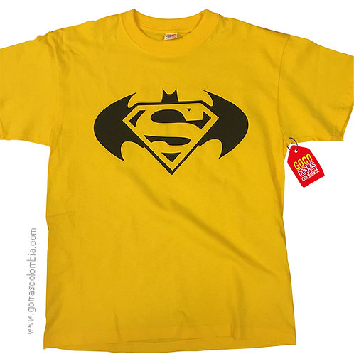 camiseta amarilla para niño de batman vs superman