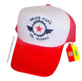 gorra roja frente blanco para familia mejor papá del mundo