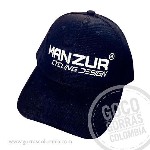gorra negra unicolor personalizada manzur