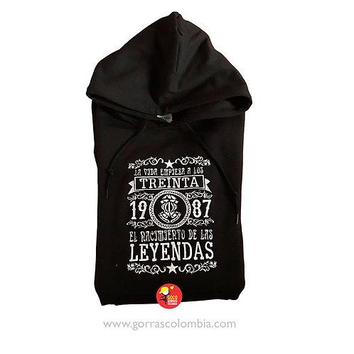 buso negro con capota personalizado nacimiento de las leyendas