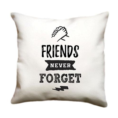 cojin blanco personalizado friends never forget