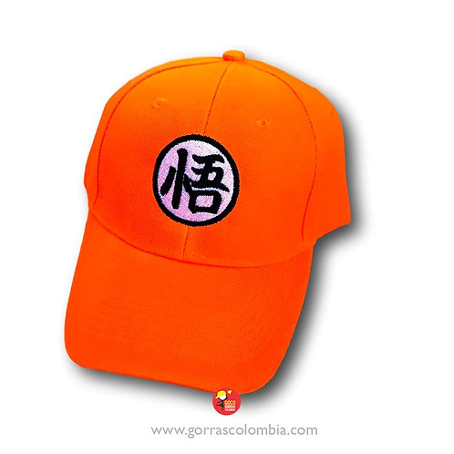 gorra naranja unicolor personalizada dragon ball