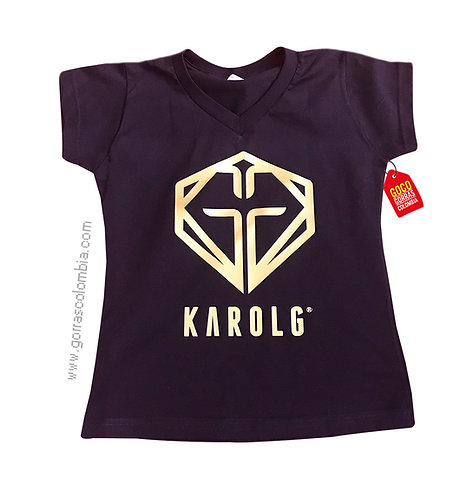 camiseta negra personalizada karolg