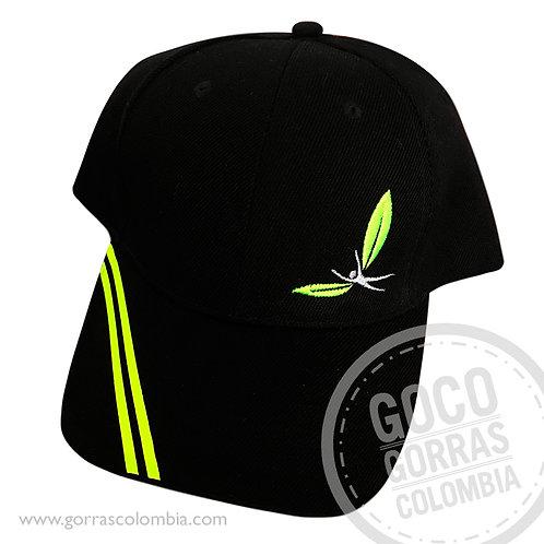 gorra negra unicolor personalizada escape co