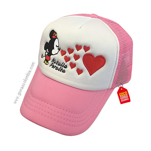 gorra rosada frente blanco personalizada minnie