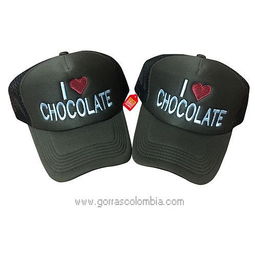gorras negras unicolor para pareja chocolate