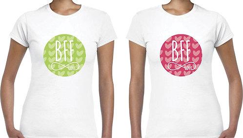 camisetas blancas para amigas bff infinito love