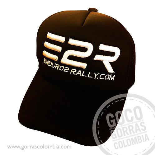 gorra negra unicolor personalizada enduro2rally.com