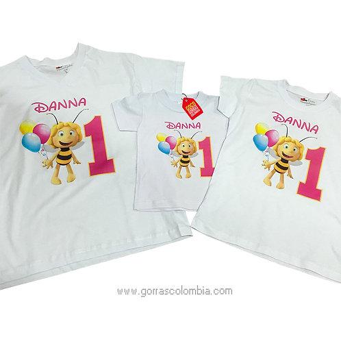 camisetas blancas para familia de abeja cumpleaños