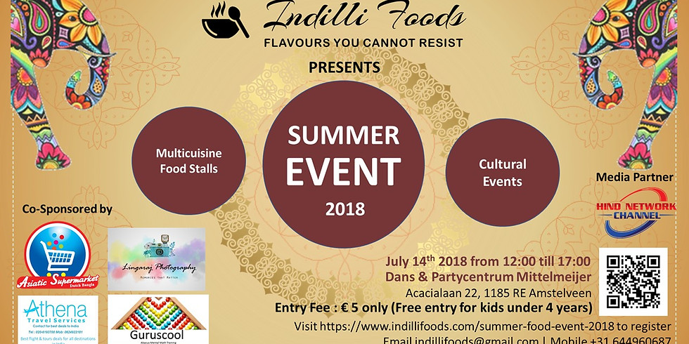 Summer Food Event 2018