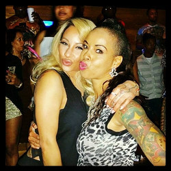 Yay got my pic with my Boo _hazelebaby #LHHHollywood #LoveHer Shes so sweet!! We chopped it up for a