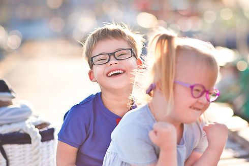 Children with down syndrome in marine de