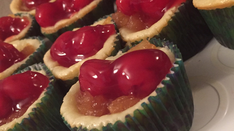 """""""Party Time"""" Pineapple Upside Down Cheesecake Cupcake"""