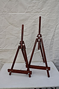 Two sizes of display stands when assembled.