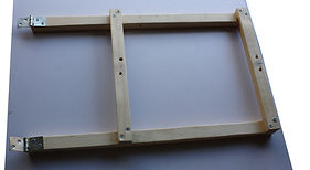 Upright frame support sub assembly of the table easel.