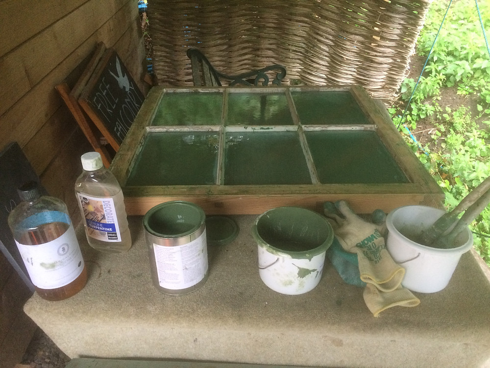 Linseed oil paint preparation & application