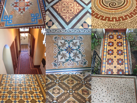 Conservation of tiles & mosaic