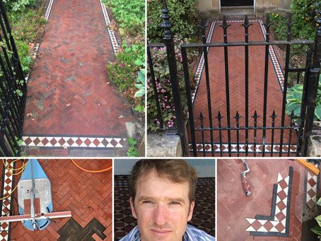Victorian tile path repair