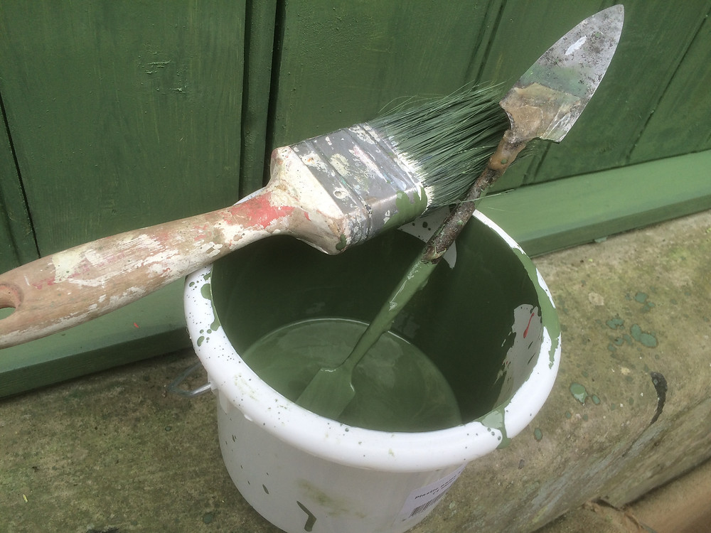 Mixing of the linseed paint