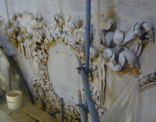 Lime stucco taken during extensive conservation