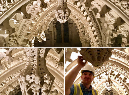 Conservation repair to Medieval Stone Carving