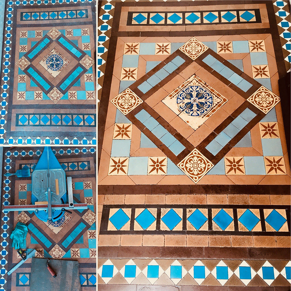 Victorian tiles cleanand repair