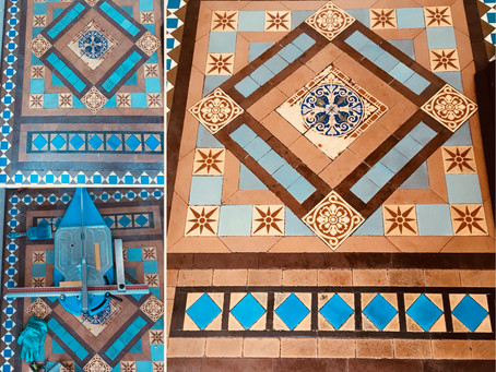 Victorian tiles repair and clean