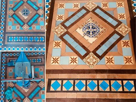 Victorian tiles repair and clean