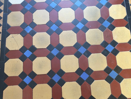 Conservation & repair of victorian tiles and mosaic floors