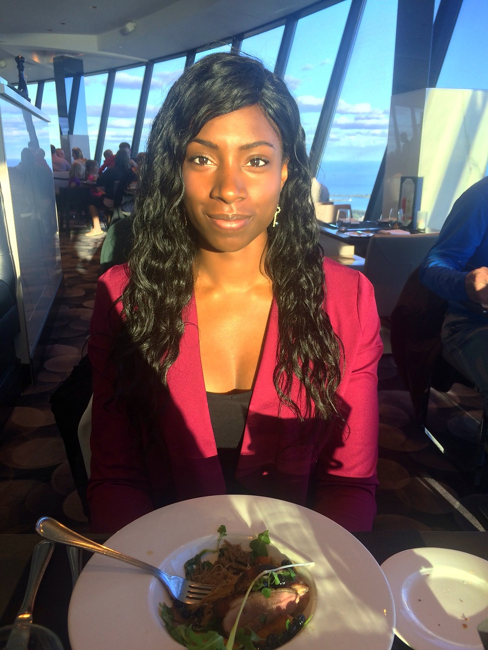 At the 360 Restaurant