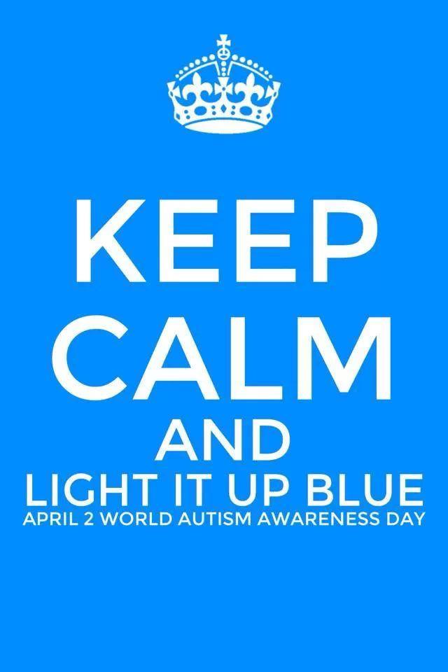 Keep Calm & Light It Up Blue w/ France Makabu