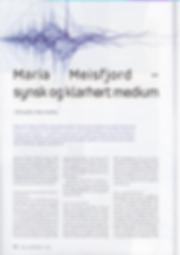 Media omtale av Klarsynt Medium Maria 1.