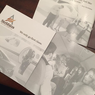 I proud to announce my photography is now published! Those are my pictures featured in the new marketing material for Stebbins Aviation! #pu