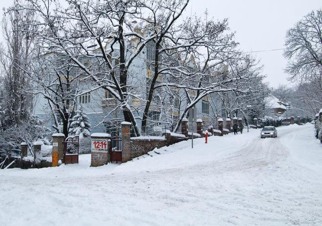 Műteremház, tél, 2010
