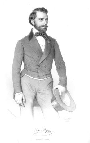 Barabás Miklós: Degré Alajos [anyai dédapám] portréja, 1854