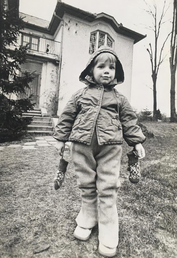 Juli a sződligeti kertben, kb. 1978