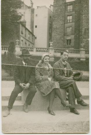 Nagynéném, Szüts Márta Barcsay Jenővel Párizsban