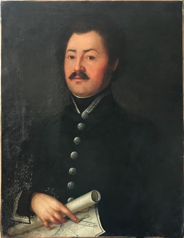 Lechner József [ükapám] portréja (szerző ismeretlen) cca 1830