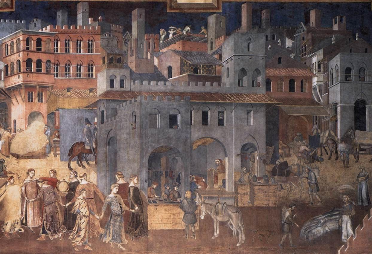 Lorenzetti, Siena városháza