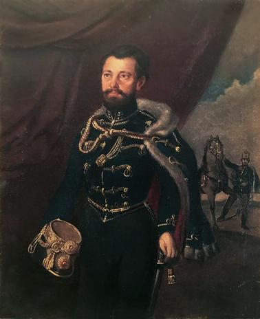 Szamossy Elek (1826–1888): Degré Alajos portréja, Kokett nevű lovával