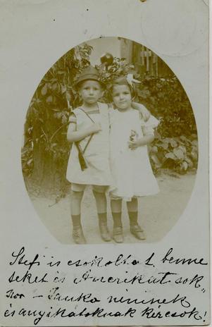 Apám és Márta nagynéném cca 1907