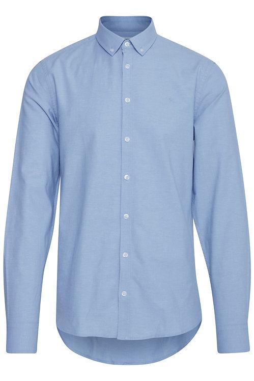 Chemise bleu manche longue