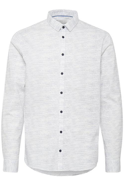 Chemise fond blanc cassé motif