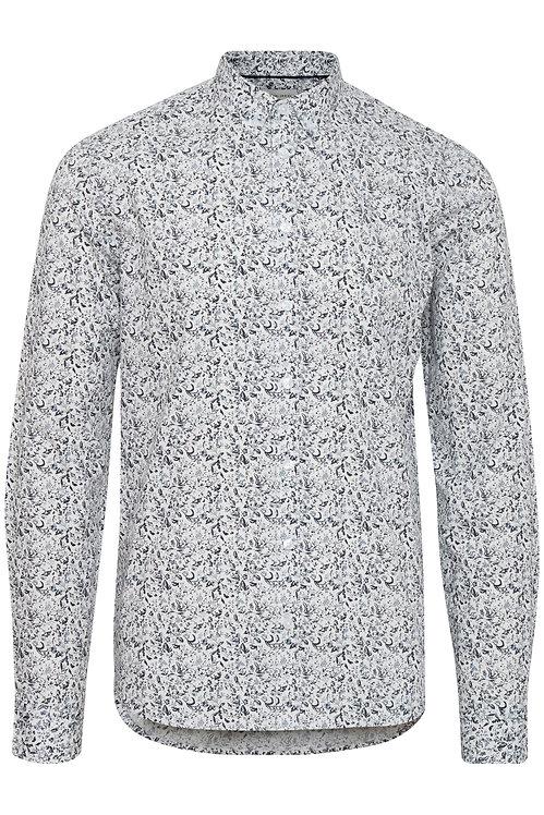 Chemise blanc cassé motif Montréal
