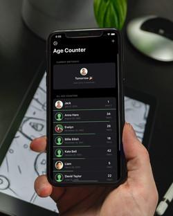 Age Counter using dark mode