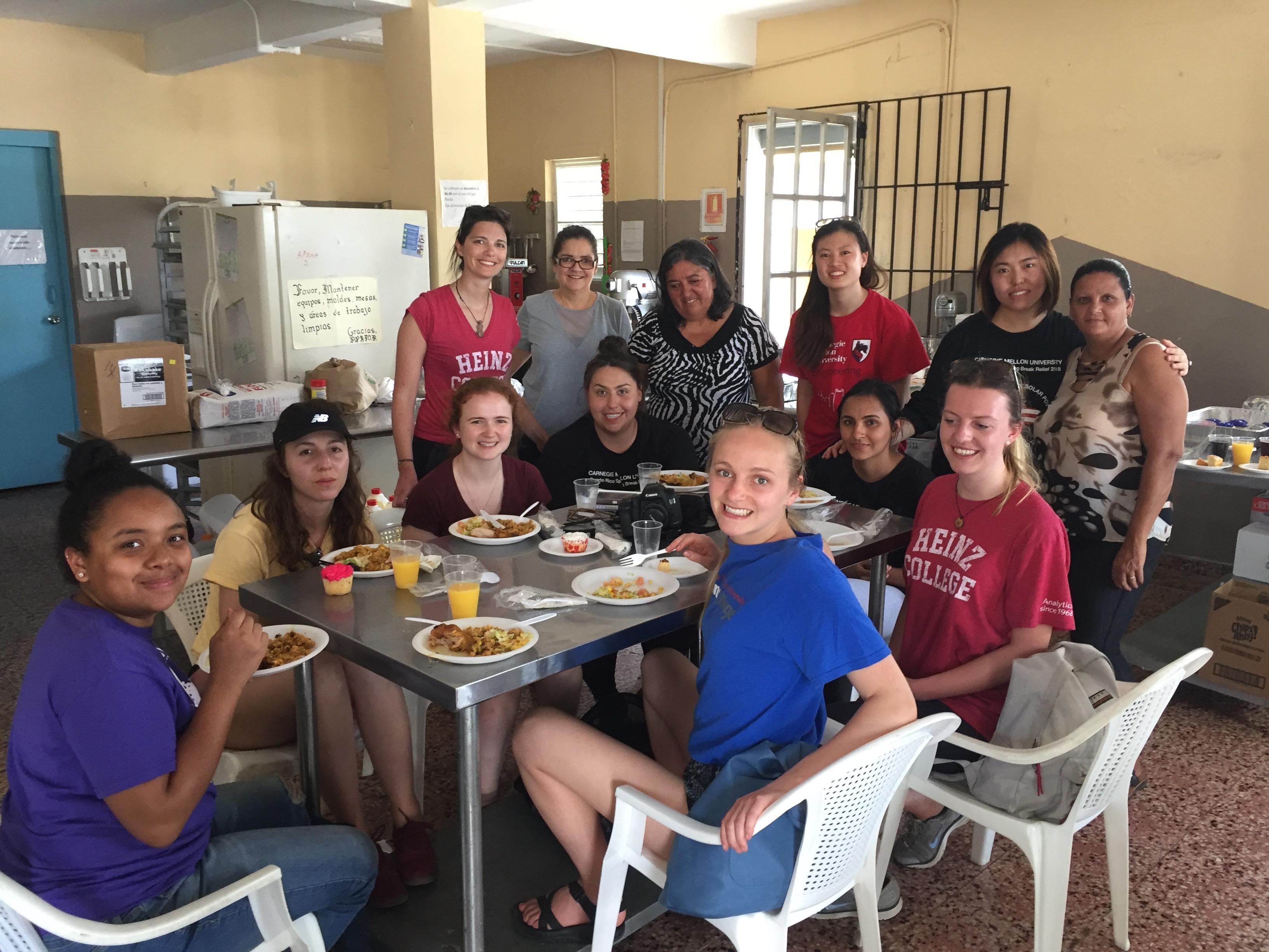Lunch at Asociacion Pro-Bienestar Marias de Aguada