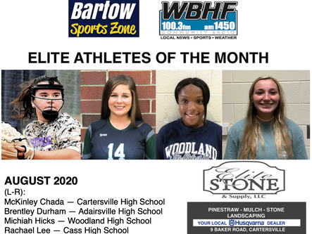 August 2020 Elite Athletes of the Month
