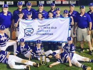 Cartersville Little League 11U wins District 1