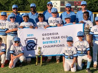 Bartow County Little League 10U captures Georgia District 1 championship