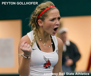 Peyton Gollhofer Ball State women's tennis
